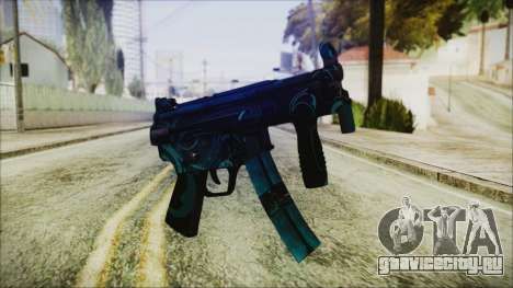 MP5K Black Blue Abstract для GTA San Andreas