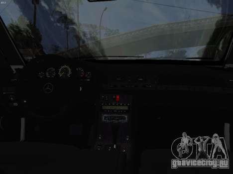 Mercedes-Benz E420 для GTA San Andreas вид изнутри