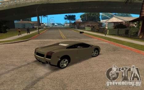 Lamborghini Gallardo Tunable v2 для GTA San Andreas вид сверху