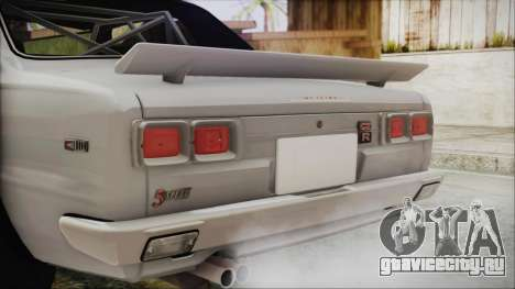 Nissan Skyline GT-R Hakosuka для GTA San Andreas вид сзади