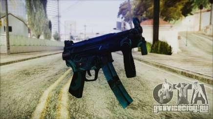 MP5K Black Blue Abstract для GTA San Andreas