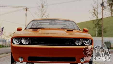 Dodge Challenger SRT-8 2010 для GTA San Andreas вид сзади слева