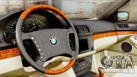 BMW 530D E39 2001 Stock для GTA San Andreas вид сзади