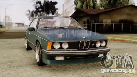 BMW M635 E24 CSi 1984 Stock для GTA San Andreas вид справа