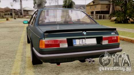 BMW M635 E24 CSi 1984 Stock для GTA San Andreas вид слева