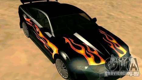 Ford Mustang GT для GTA San Andreas вид сзади