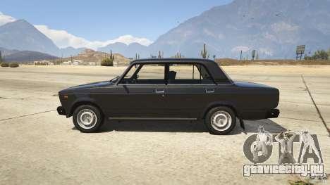 ВАЗ-2107 Lada Riva v1.2 для GTA 5 вид слева