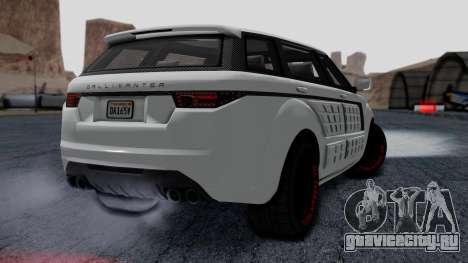 GTA 5 Gallivanter Baller LE LWB Arm IVF для GTA San Andreas вид слева