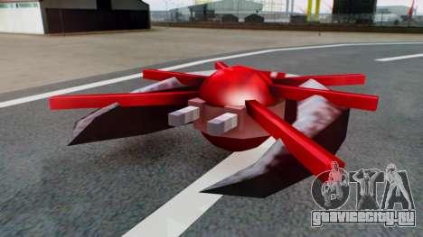 Alien Ship Red-Gray для GTA San Andreas вид справа