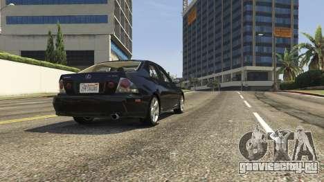 Lexus IS300 Tunable 1.0 для GTA 5 вид сзади