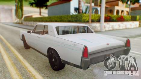 GTA 5 Vapid Chino Tunable PJ для GTA San Andreas вид изнутри