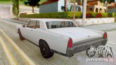 GTA 5 Vapid Chino Tunable PJ для GTA San Andreas вид изнутри