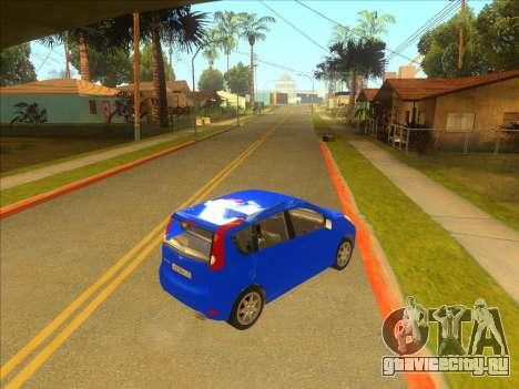 Nissan Note v0.5 Beta для GTA San Andreas вид сзади слева