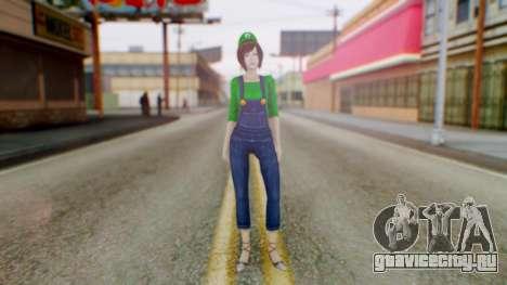 Fatal Frame 4 Misaki Luigi Clothes для GTA San Andreas второй скриншот
