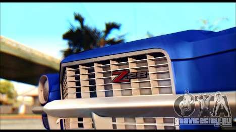 Chevrolet Camaro Z28 1970 Tunable для GTA San Andreas вид сзади слева