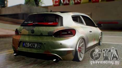 Volkswagen Scirocco R Army Edition для GTA San Andreas вид слева