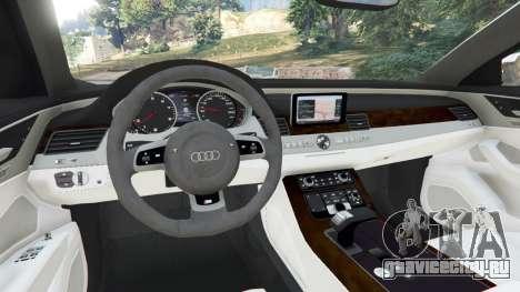 Audi S8 Quattro 2013 v1.2 для GTA 5 вид сзади справа