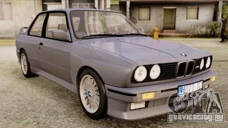 BMW M3 E30 1991 Stock для GTA San Andreas