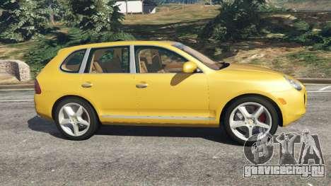 Porsche Cayenne Turbo 2003 для GTA 5 вид слева