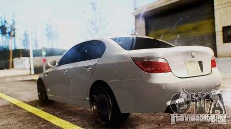 BMW M5 E60 для GTA San Andreas вид сзади слева