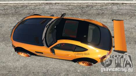 Mercedes-Benz AMG GT 2016 [LibertyWalk] для GTA 5 вид сзади