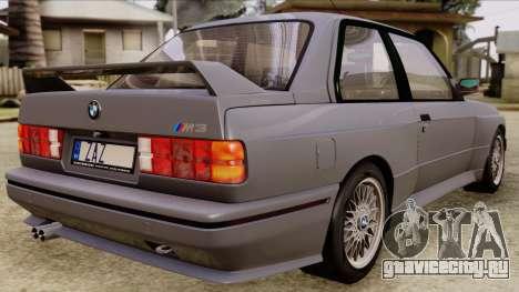 BMW M3 E30 1991 Stock для GTA San Andreas вид слева
