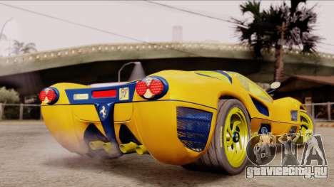 Ferrari P7 Gold для GTA San Andreas вид слева