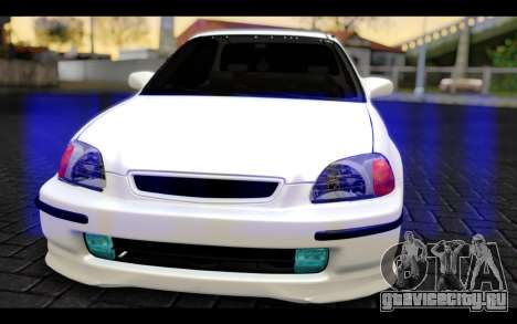 Honda Civic 1.6 для GTA San Andreas вид сзади