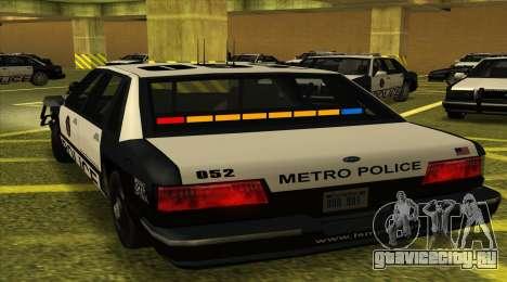 Police SF для GTA San Andreas вид слева