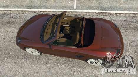 Porsche Boxster S 987 2010 для GTA 5 вид сзади