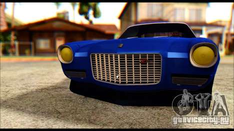 Chevrolet Camaro Z28 1970 Tunable для GTA San Andreas вид изнутри