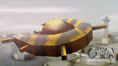 Alien Ship Yellow-Black для GTA San Andreas вид слева