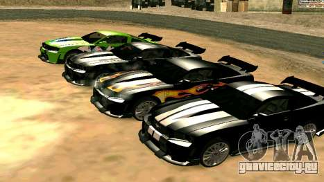 Ford Mustang GT для GTA San Andreas вид сверху
