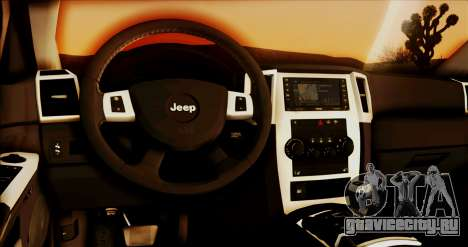Jeep Grand Cherokee SRT8 Final version для GTA San Andreas вид сзади