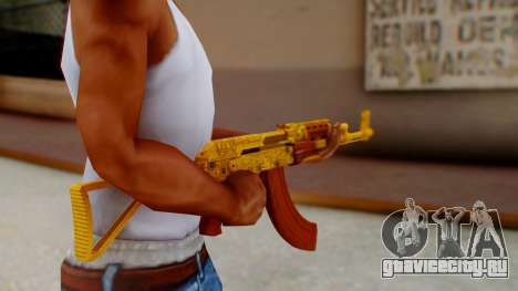 GTA 5 Assault Rifle Luxury Camo для GTA San Andreas третий скриншот