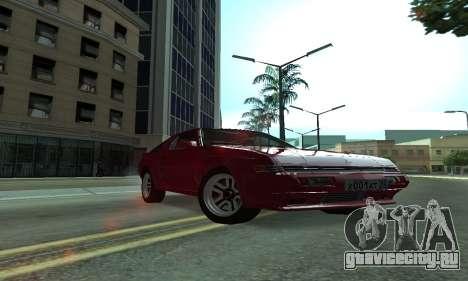 Mitsubishi Starion ECI-R для GTA San Andreas вид снизу