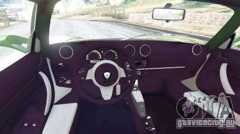 Tesla Roadster Sport 2011 для GTA 5 вид сзади справа