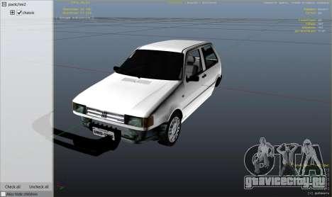 Fiat Uno 1995 для GTA 5 вид справа