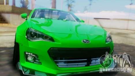 Subaru BRZ 2013 Rocket Bunny для GTA San Andreas вид изнутри