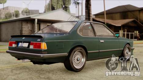 BMW M635 E24 CSi 1984 Stock для GTA San Andreas вид сзади слева