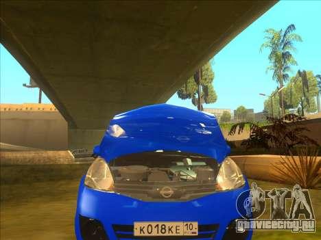 Nissan Note v0.5 Beta для GTA San Andreas вид сбоку