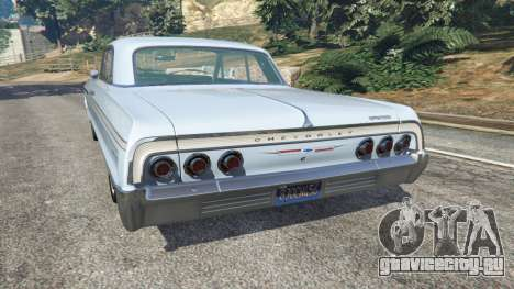 Chevrolet Impala SS 1964 v2.0 для GTA 5 вид сзади слева