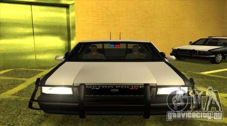 Police SF для GTA San Andreas вид сзади слева