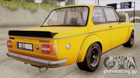 BMW 2002 Turbo 1973 Stock для GTA San Andreas вид слева