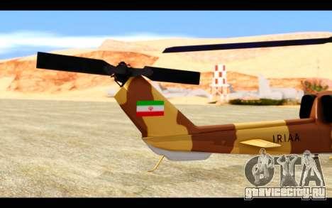 AH-1W IRIAF SuperCobra для GTA San Andreas вид изнутри