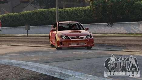 2011 Subaru Impreza STI для GTA 5 вид сзади