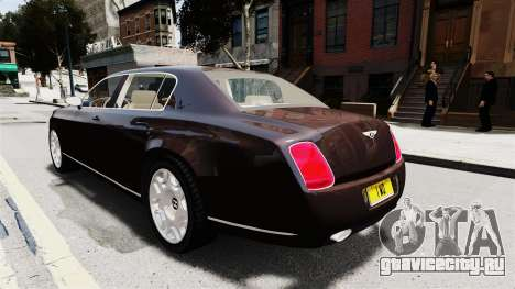 Bentley Continental 2010 Flying Spur Beta для GTA 4 вид изнутри