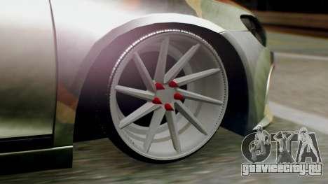 Volkswagen Scirocco R Army Edition для GTA San Andreas вид сзади слева