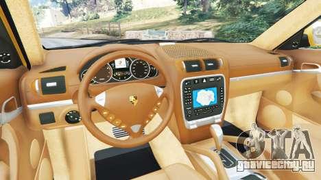 Porsche Cayenne Turbo 2003 для GTA 5 вид сзади справа