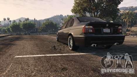 BMW M5 E39 1.1 для GTA 5 вид сзади